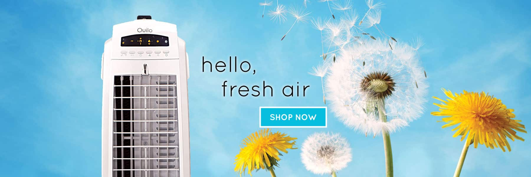 Air Cooling System For Home, Quiet Room Air Cooler Fan - Quilo